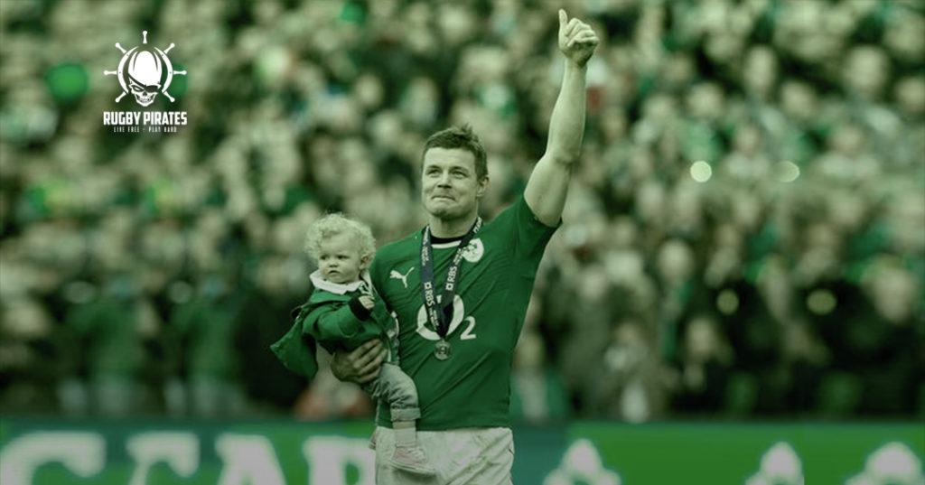 Bryan O'Driscoll durante il suo ultimo incontro con la nazionale irlandese